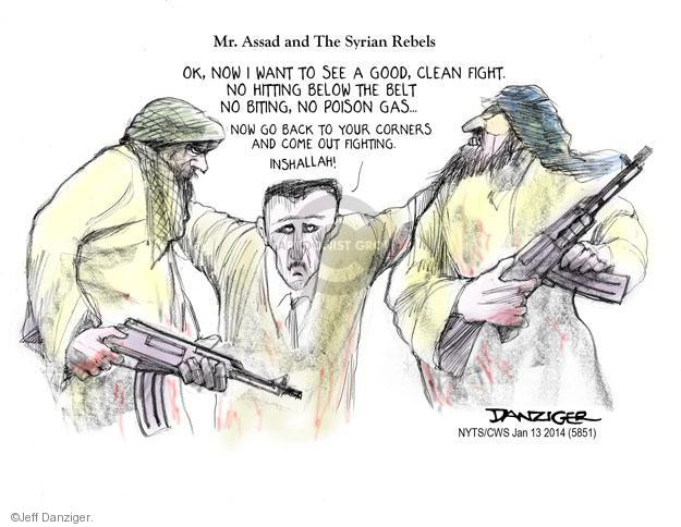 Cartoonist Jeff Danziger  Jeff Danziger's Editorial Cartoons 2014-01-13 rebel