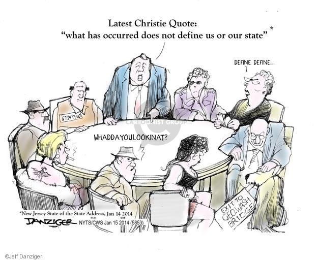 Cartoonist Jeff Danziger  Jeff Danziger's Editorial Cartoons 2014-01-15 republican politician