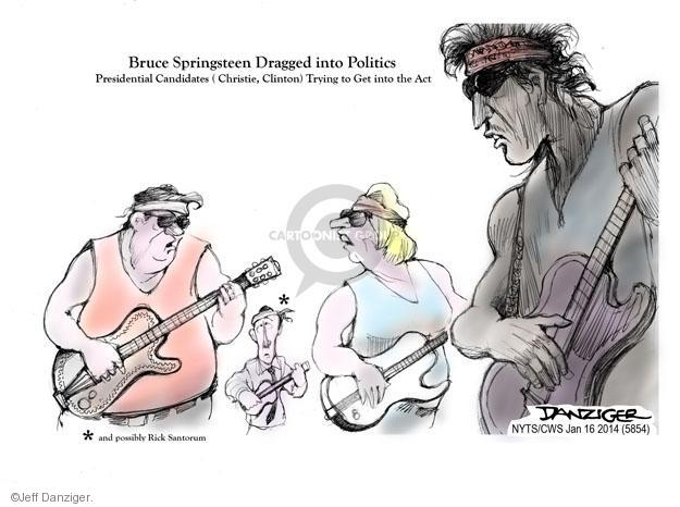 Cartoonist Jeff Danziger  Jeff Danziger's Editorial Cartoons 2014-01-16 Chris Christie