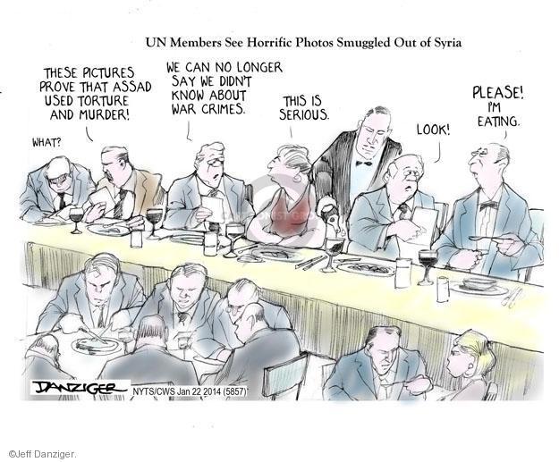 Jeff Danziger  Jeff Danziger's Editorial Cartoons 2014-01-22 murder