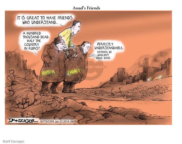 Cartoonist Jeff Danziger  Jeff Danziger's Editorial Cartoons 2014-01-23 regime