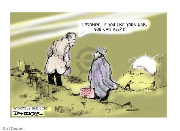 Cartoonist Jeff Danziger  Jeff Danziger's Editorial Cartoons 2014-01-26 Afghan