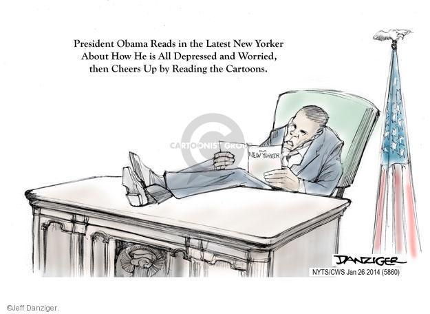 Cartoonist Jeff Danziger  Jeff Danziger's Editorial Cartoons 2014-01-26 Barack Obama
