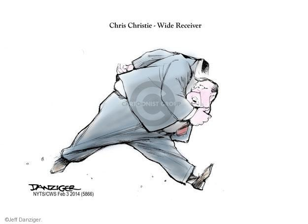 Cartoonist Jeff Danziger  Jeff Danziger's Editorial Cartoons 2014-02-02 Chris Christie