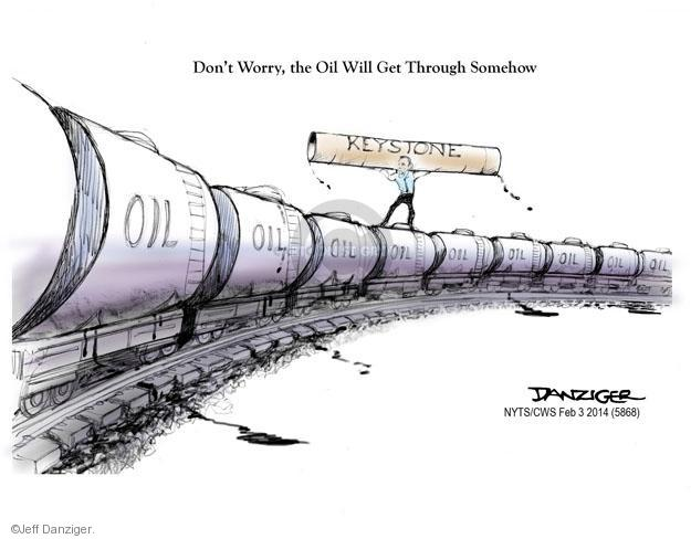 Cartoonist Jeff Danziger  Jeff Danziger's Editorial Cartoons 2014-02-03 energy