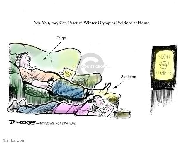 Yes, You, too, Can Practice Winter Olympics Positions at Home. Luge. Skeleton. Sochi Olympics.