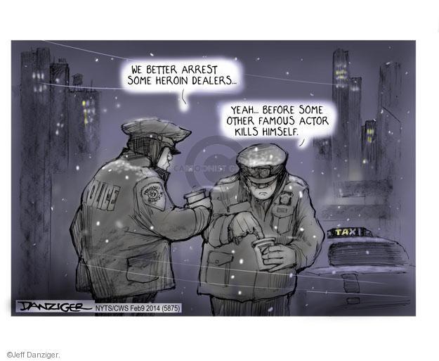 Cartoonist Jeff Danziger  Jeff Danziger's Editorial Cartoons 2014-02-11 famous