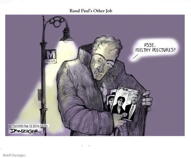 Cartoonist Jeff Danziger  Jeff Danziger's Editorial Cartoons 2014-02-12 Rand