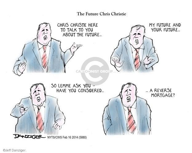 Cartoonist Jeff Danziger  Jeff Danziger's Editorial Cartoons 2014-02-16 Chris Christie