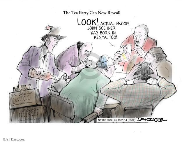 Cartoonist Jeff Danziger  Jeff Danziger's Editorial Cartoons 2014-02-18 tea party