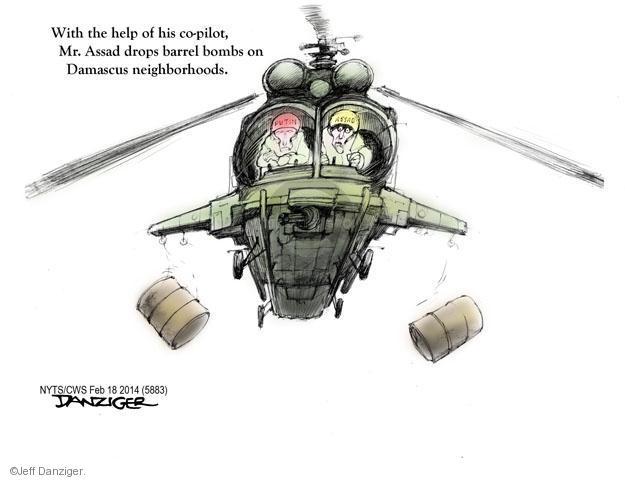 Cartoonist Jeff Danziger  Jeff Danziger's Editorial Cartoons 2014-02-18 uprising