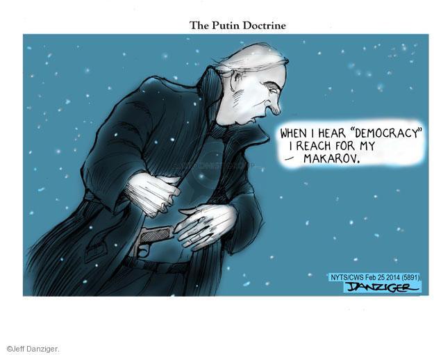 Cartoonist Jeff Danziger  Jeff Danziger's Editorial Cartoons 2014-02-25 leadership