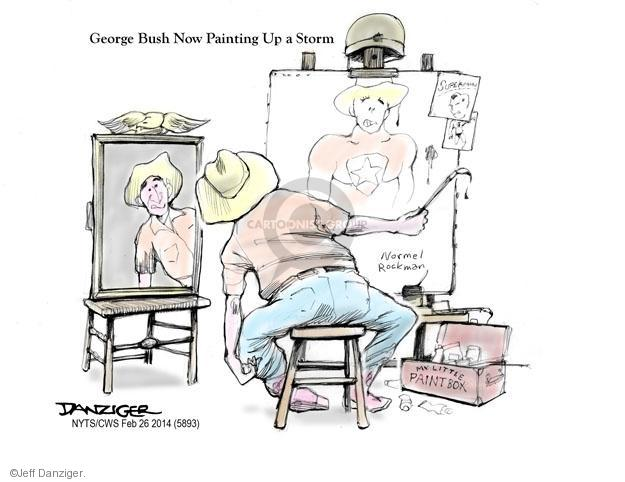 Cartoonist Jeff Danziger  Jeff Danziger's Editorial Cartoons 2014-02-26 George W. Bush