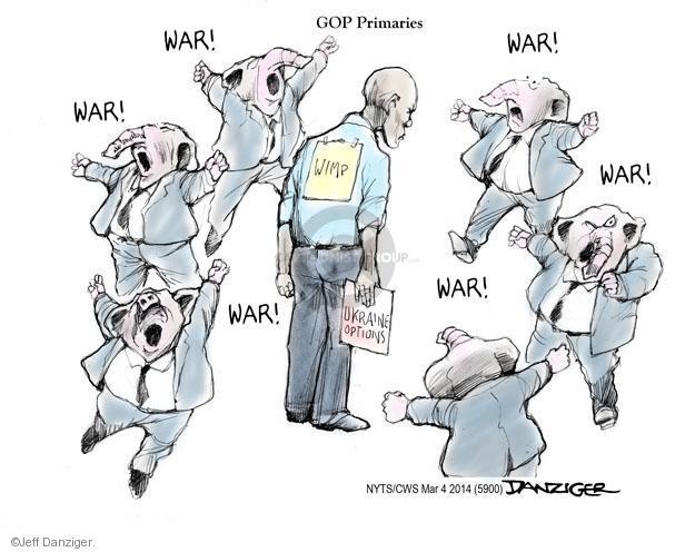 Jeff Danziger  Jeff Danziger's Editorial Cartoons 2014-03-04 military strategy