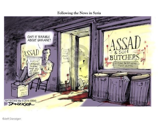 Cartoonist Jeff Danziger  Jeff Danziger's Editorial Cartoons 2014-03-09 regime