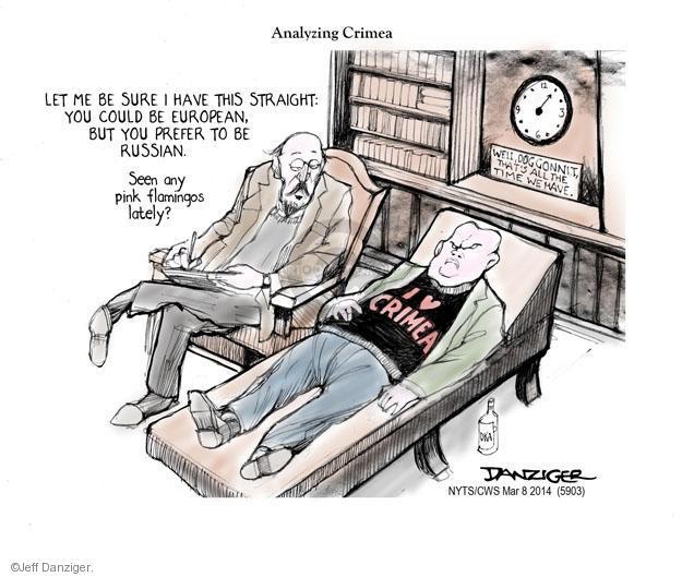 Cartoonist Jeff Danziger  Jeff Danziger's Editorial Cartoons 2014-03-09 international relations