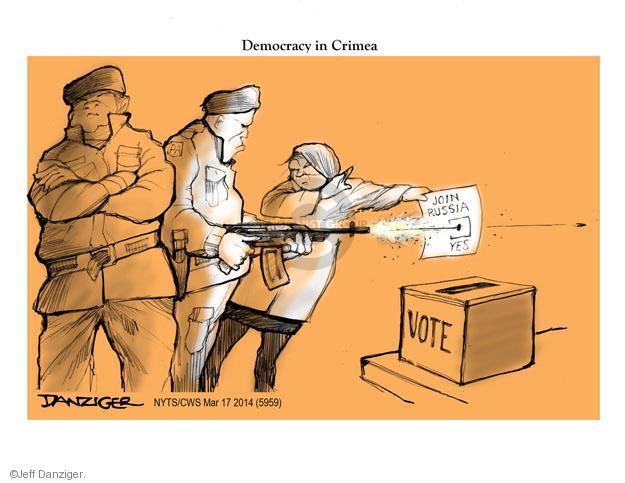 Jeff Danziger  Jeff Danziger's Editorial Cartoons 2014-03-17 ballot