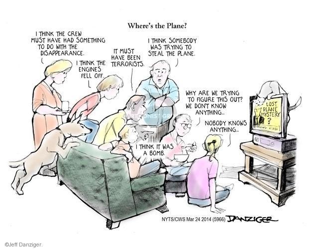 Cartoonist Jeff Danziger  Jeff Danziger's Editorial Cartoons 2014-03-24 aircraft
