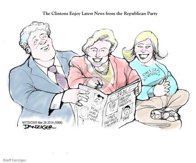 Cartoonist Jeff Danziger  Jeff Danziger's Editorial Cartoons 2014-03-26 Ryan