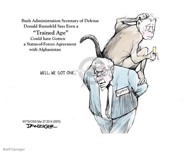 Cartoonist Jeff Danziger  Jeff Danziger's Editorial Cartoons 2014-03-27 George W. Bush