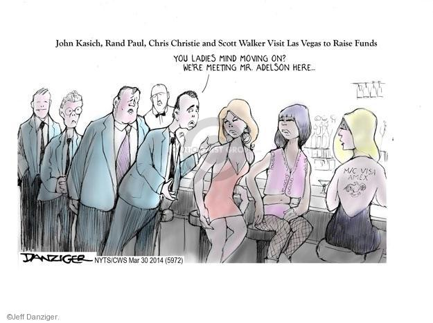 Cartoonist Jeff Danziger  Jeff Danziger's Editorial Cartoons 2014-03-30 Chris Christie