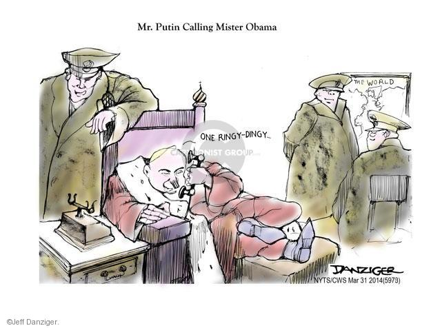 Cartoonist Jeff Danziger  Jeff Danziger's Editorial Cartoons 2014-03-31 American