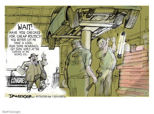 Cartoonist Jeff Danziger  Jeff Danziger's Editorial Cartoons 2014-04-01 car manufacturer