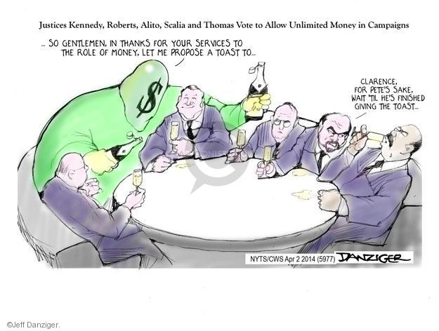 Cartoonist Jeff Danziger  Jeff Danziger's Editorial Cartoons 2014-04-02 cap