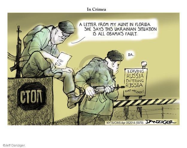 Cartoonist Jeff Danziger  Jeff Danziger's Editorial Cartoons 2014-04-06 letter
