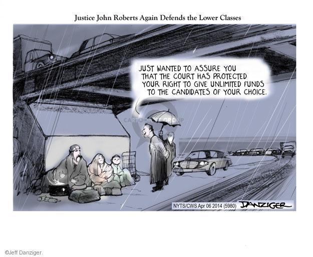Cartoonist Jeff Danziger  Jeff Danziger's Editorial Cartoons 2014-04-06 cap