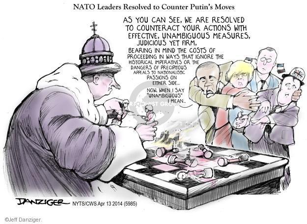 Cartoonist Jeff Danziger  Jeff Danziger's Editorial Cartoons 2014-04-13 international relations
