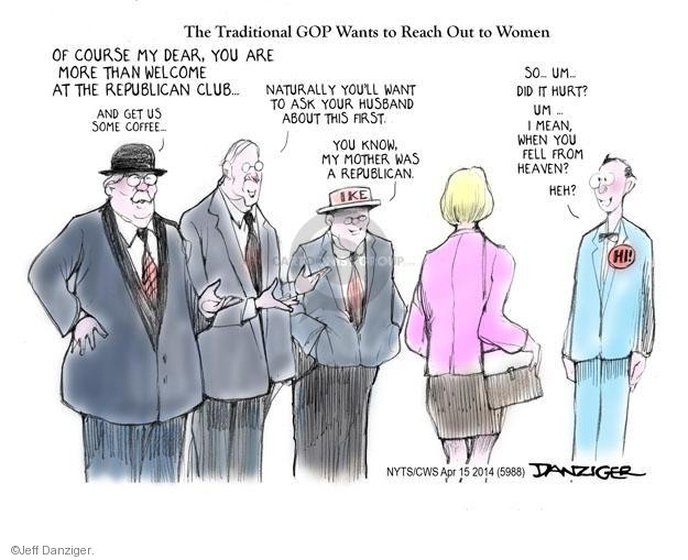 Cartoonist Jeff Danziger  Jeff Danziger's Editorial Cartoons 2014-04-15 republican