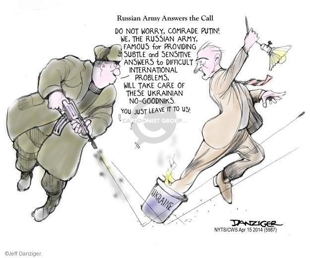 Cartoonist Jeff Danziger  Jeff Danziger's Editorial Cartoons 2014-04-15 famous
