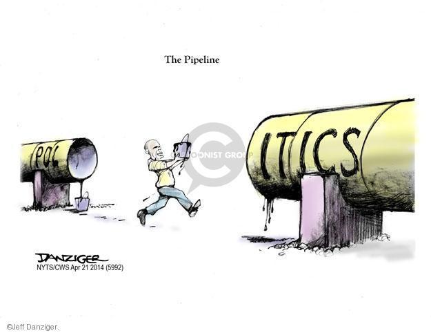 Cartoonist Jeff Danziger  Jeff Danziger's Editorial Cartoons 2014-04-21 construction