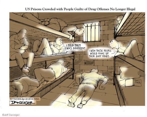 Cartoonist Jeff Danziger  Jeff Danziger's Editorial Cartoons 2014-04-22 prisoner