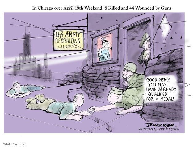 Jeff Danziger  Jeff Danziger's Editorial Cartoons 2014-04-23 army recruit