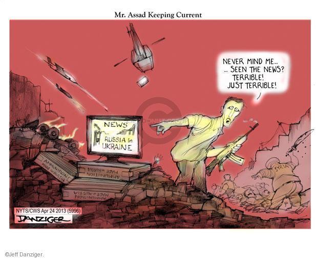 Cartoonist Jeff Danziger  Jeff Danziger's Editorial Cartoons 2014-04-24 regime