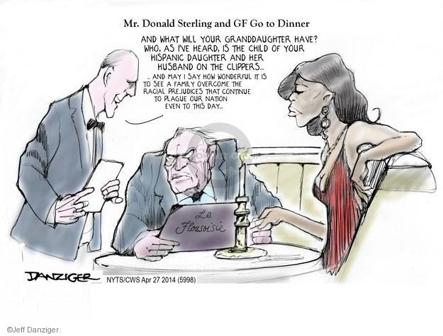 Cartoonist Jeff Danziger  Jeff Danziger's Editorial Cartoons 2014-04-27 discrimination
