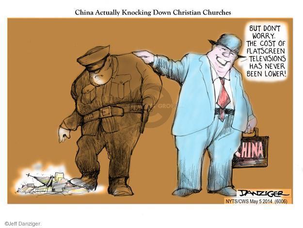 Cartoonist Jeff Danziger  Jeff Danziger's Editorial Cartoons 2014-05-04 Christian