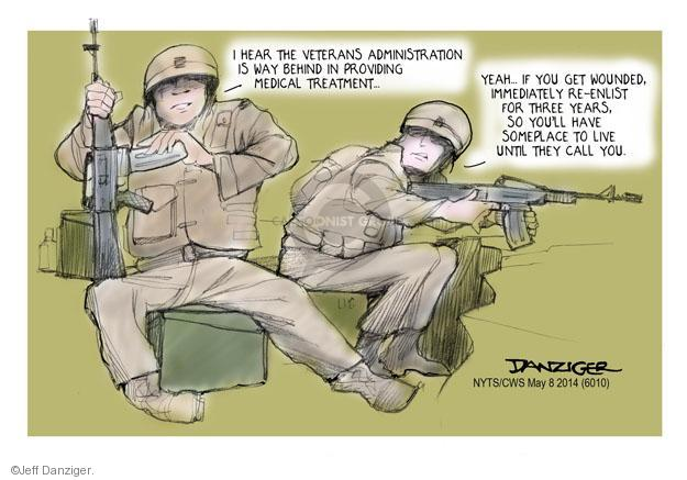 Jeff Danziger  Jeff Danziger's Editorial Cartoons 2014-05-08 armed forces
