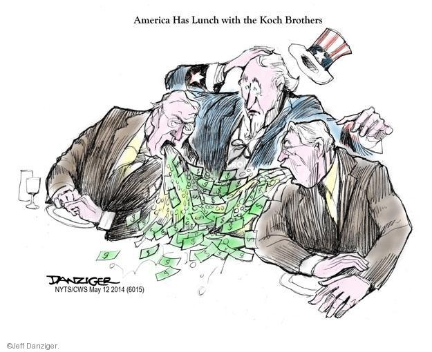 Jeff Danziger  Jeff Danziger's Editorial Cartoons 2014-05-12 Koch brothers