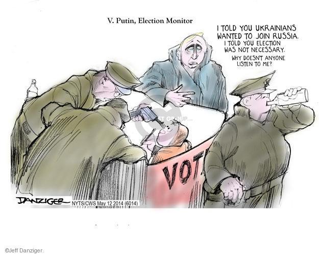 Cartoonist Jeff Danziger  Jeff Danziger's Editorial Cartoons 2014-05-12 join