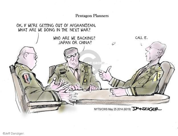 Jeff Danziger  Jeff Danziger's Editorial Cartoons 2014-05-25 defense