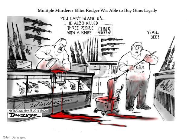 Cartoonist Jeff Danziger  Jeff Danziger's Editorial Cartoons 2014-05-26 arms