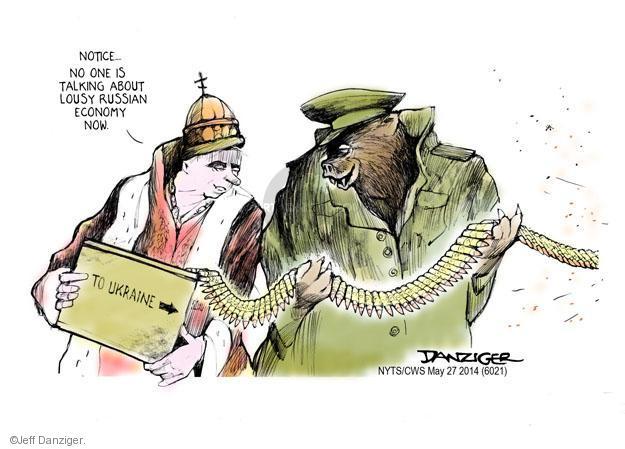 Cartoonist Jeff Danziger  Jeff Danziger's Editorial Cartoons 2014-05-27 Russian President