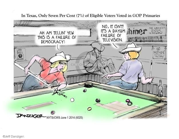 Cartoonist Jeff Danziger  Jeff Danziger's Editorial Cartoons 2014-06-01 isn't