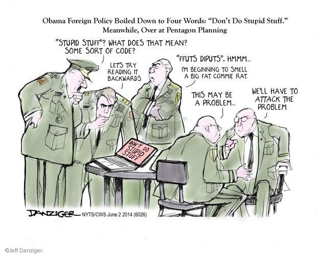 Jeff Danziger  Jeff Danziger's Editorial Cartoons 2014-06-02 defense