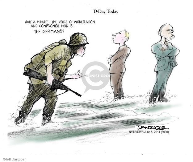Cartoonist Jeff Danziger  Jeff Danziger's Editorial Cartoons 2014-06-05 World War II