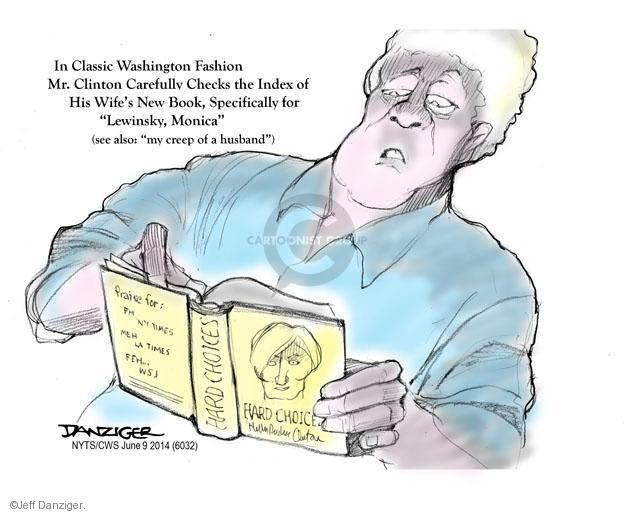Cartoonist Jeff Danziger  Jeff Danziger's Editorial Cartoons 2014-06-09 political scandal