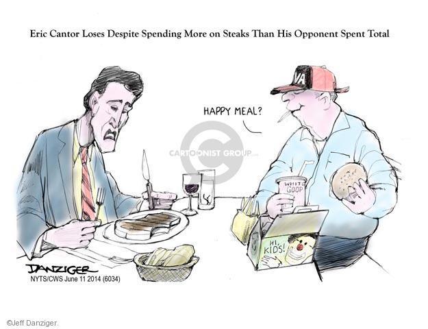 Cartoonist Jeff Danziger  Jeff Danziger's Editorial Cartoons 2014-06-11 Eric Cantor